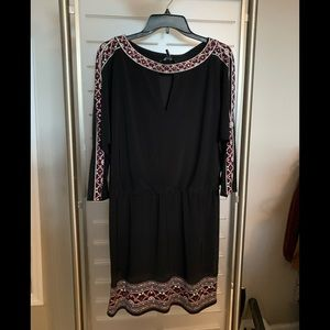 Whitehouse Blackmarket Black Knit Dress